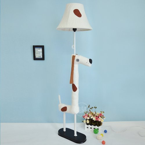 Lovely Cartoon Fabric Dalmatians Bedroom Floor Lamp Creative Fashion Kid'S Room Floor Lamp front-185163
