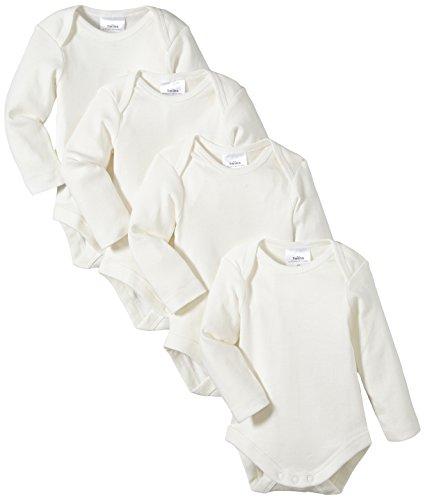 Twins - Body Bimbi, pacco da 4, bianco (Off White), 12-18 mesi