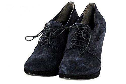 Scarpe donna ROBERTO DEL CARLO francesine N.36 camoscio nero blu X1151