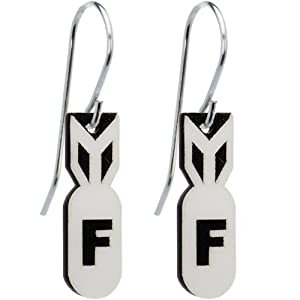 Glow in the Dark F-Bomb Earrings