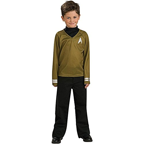 Star Trek Movie Child's Gold Shirt Costume with Dickie and Pants, Medium - 1