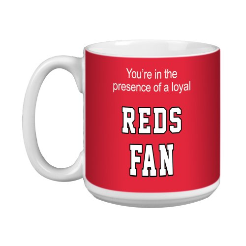 Tree-Free Greetings Xm28083 Reds Baseball Fan Artful Jumbo Mug, 20-Ounce