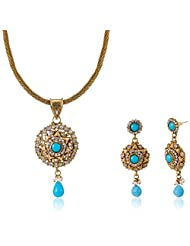 Sia Art Jewellery Sets For Women (Golden And Blue) (AZ2204)