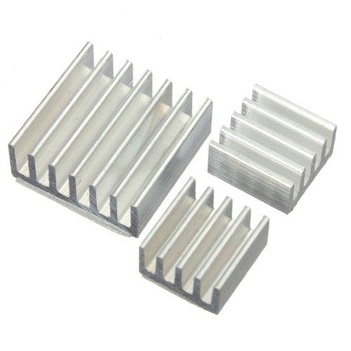 Kit 3pcs adhésif aluminium dissipateur de chaleur pour le refroidissement Cooler Raspberry Pi.
