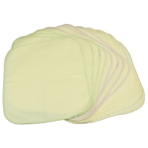 Osocozy Unbleached Organic Flannel Baby Wipes 12 Pack