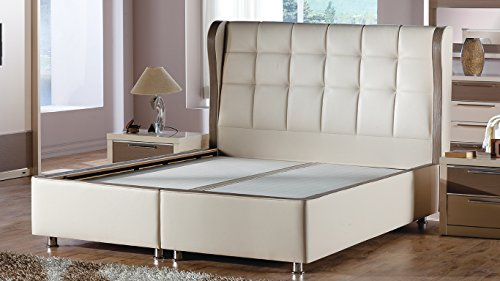 Bolivia Polo Cream Storage Platform Bed