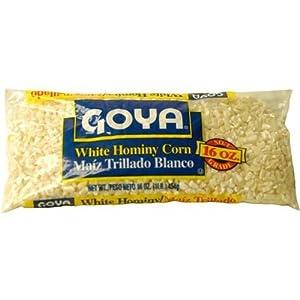 Amazon.com : Goya Foods White Hominy Corn (Maiz Blanco Trillado), 16