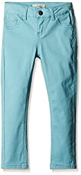 Fox Girls' Trousers  (Black and Turquoise_8 years_815020)
