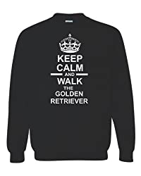 Keep Calm & Walk The Golden Retriever Unisex Sweatshirt Jumper