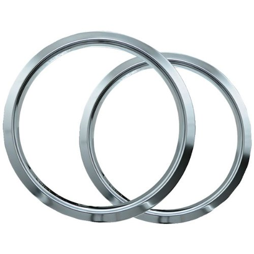 "Range Kleen Trim Ring Chrome 1 Small / 6"" And 1 Large / 8"", 2 Pk - R68Ge"