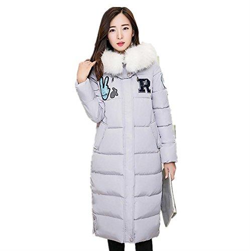 AiSiC Women winter warm Faux fur Hooded Loose long Down Jacket Coat