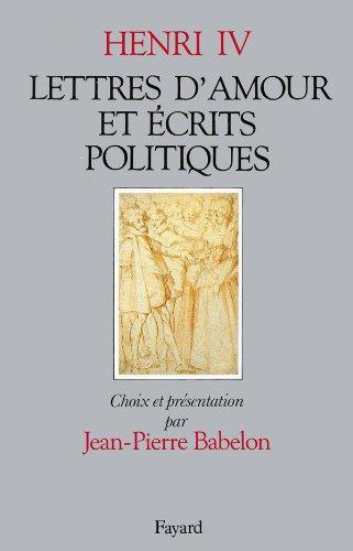 Lettres d'amour et écrits politiques