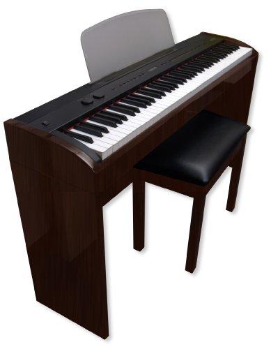 Suzuki Music Studio Digital Piano With Matching Bench (Dark Rosewood Finish) W/O Pedals