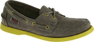 Sebago Men's Docksides,Grey Nubuck/Mint,US 7.5 M
