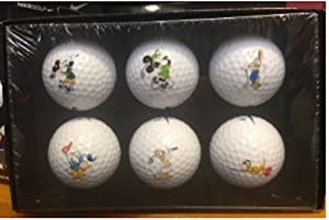 Walt Disney World Collectible Mickey Mouse Golf Ball Boxed Set of 6 by Disney