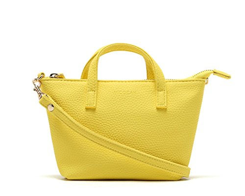 Borsetta Clode® Lady Fashion Women Hobo Borsa a Tracolla Del Messaggero Della Borsa Della Satchel Tote (Colour : Giallo)