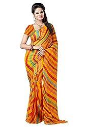 SSI Chiffon Saree (SSI LEH_Yellow Multi Colour)