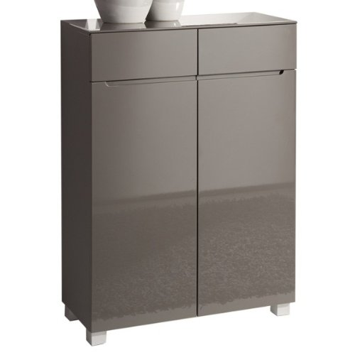 Design Kommode MONZA, Hochglanz lackiert, grau, Möbel ...