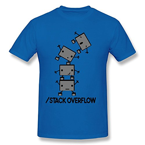 Design Your Own Music Stack Overflow Robots Men T-Shirts front-569849