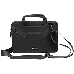 Evecase 11.6 inch Laptop / 12 inch Tablet Neoprene Messenger Case with Handle and Carrying Strap (Black)