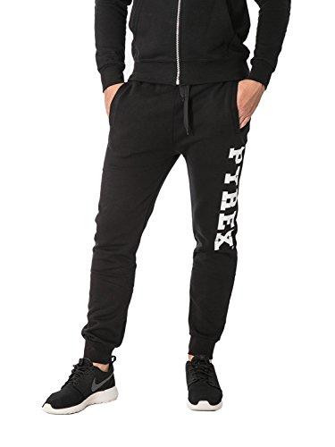 PYREX - Pantaloni unisex uomo donna con stampa regular fit 33002 s nero