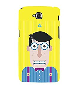 ANIMATED CHARACTER WITH ZIPPED LIPS 3D Hard Polycarbonate Designer Back Case Cover for LG GPro Lite :: LG G Pro Lite Dual D686