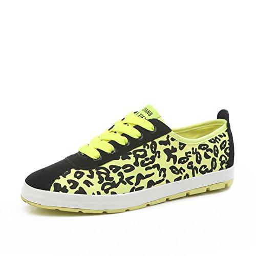 ressort de Leopard et l'été pour aider à bas chaussures en toile/chaussures sportives à fond plat/Fluorescent couleur chaussures de sport/Chaussez des chaussures plates