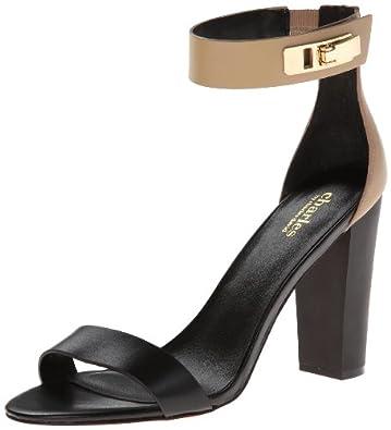 Charles by Charles David Women's Jana Dress Sandal,Black/Nude,5 M US