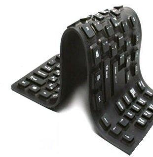 シリコンキーボード 109キー 防水 水洗いOK コーヒーをこぼしても大丈夫 くるくる丸めて携帯にも便利