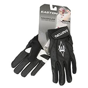 Buy Easton Magnum Series Youth Batting Glove - Color: Black, Size: Large by Magnum