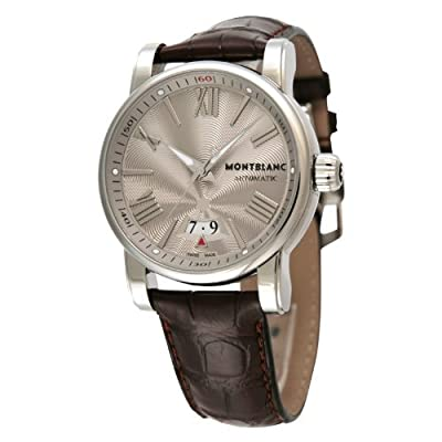 [Mont Blanc] Montblanc watch Star 4810 102342 gray stainless steel tea leather Automatic Men 102,342 Men's parallel import goods]