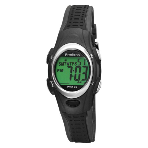 Armitron Women's 456967BLK Chronograph Black Digital Sport Watch
