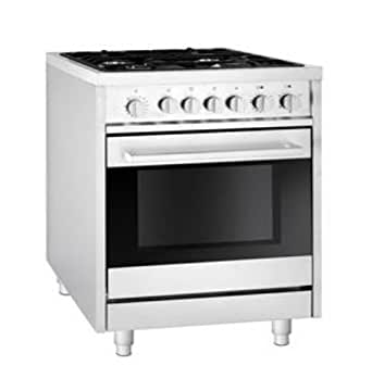 Fagor RFA-244 DF Dual Fuel Range with 4 Gas Burners, 7 Cooking Programs and Convection Oven, 24-Inch