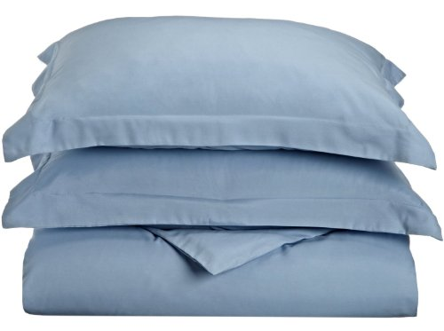 Impressions 1500 Series Wrinkle Resistant Twin/Twin Xl Duvet Cover 2-Pc Set Solid, Light Blue front-1016376