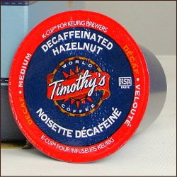 DECAF HAZELNUT by Timothy's World Coffee 96 K-Cups for Keurig Brewing Systems