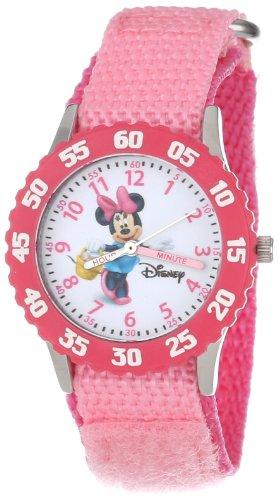 Disney Kids' W000024 Minnie Mouse Stainless Steel Time Teacher Watch