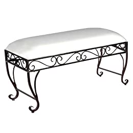 Large Scroll Bench - Bronze with Off-White Cushion : Target from target.com