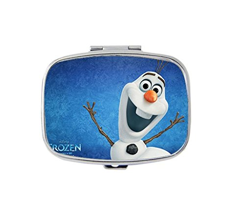 frozen-olaf-custom-unique-silver-square-pill-box-medicine-tablet-organizer-or-coin-purse