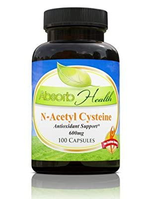 NAC N-Acetyl Cysteine   600mg 100 Capsules   Glutathione Precursor Key Antioxidant   Liver Detox Supplement