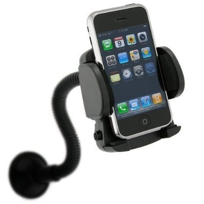 Fosmon Goose Neck Car Mount Winshield Suction Cellphone Holder for the HTC EVO 4G LTE / ONE - Black