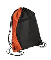 Port & Company luggage-and-bags Colorblock Cinch Pack OSFA Orange/Black