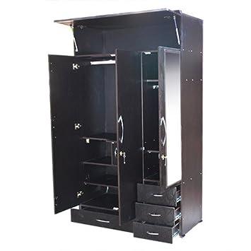K K  Furniture Wooden 3 Door Almirah With Mirror Ceres. K K  Furniture Wooden 3 Door Almirah With Mirror Ceres  Amazon in