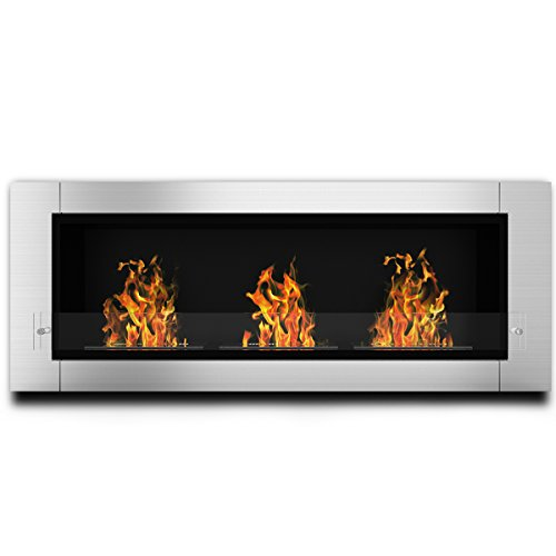 Elite Burn Lenox Ventless Bio Ethanol Recessed or Wall Mounted Fireplace