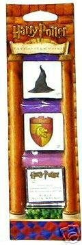 Harry Potter Tattoo Stamp Strip: Sorting Hat, Gryffindor Seal & Tattoo Ink Pad - 1