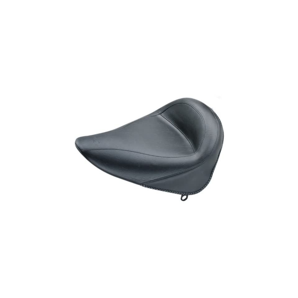 Mustang Vintage Solo Motorcycle Seat   No Studs, No Conchos   Harley Davidson Standard Rear Tire Softail 2000 2006   75086