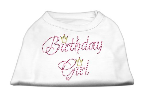 70f0d8cec Where to buy Mirage Pet Dog Cat Apparel Birthday Girl Rhinestone Shirt  White XXL 18