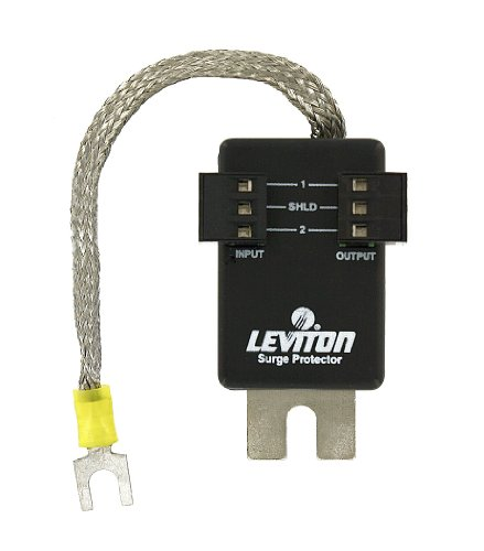 Leviton 3420-35 38.5V DC, Pole, Communication Module Surge Protective Device, 3-Pin Header Connector, Surface Mounted