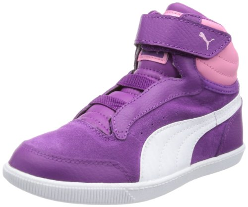 Puma Glyde court V Kids High Top Unisex-Child Pink Pink (sparkling grape-white-sachet pink 03) Size: 22