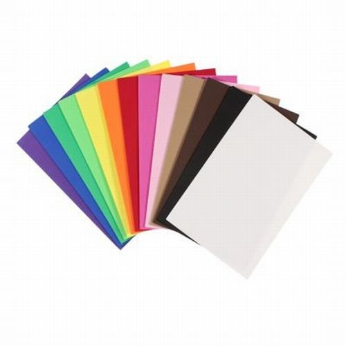 Foam-Sheets 5-1/2-Inch-by-8-1/2-Inch, 50-Pack, Rainbow Colors