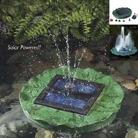 floating solar lily fountain with battery and. Black Bedroom Furniture Sets. Home Design Ideas